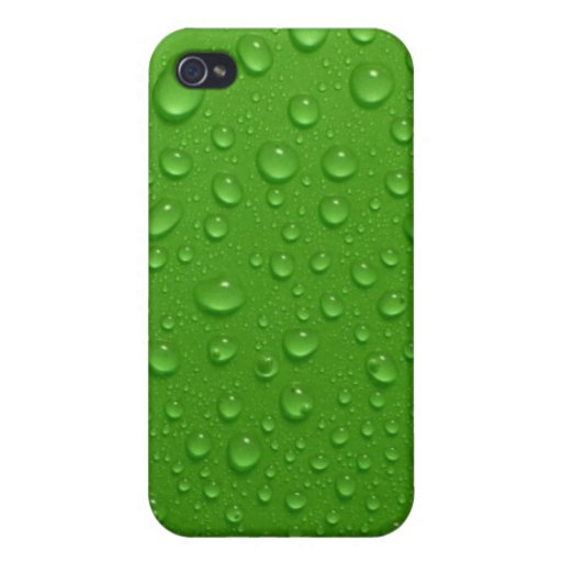 Green wet leaves texture iPhone 4/4S cases