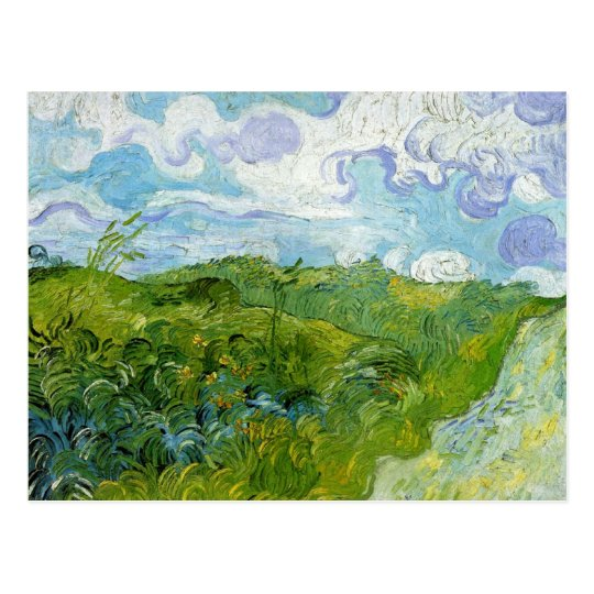 Green Wheat Fields by Van Gogh Postcard