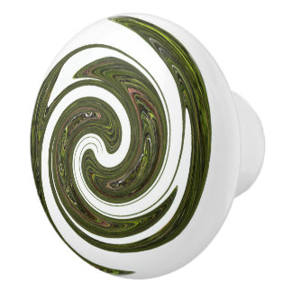 Green Wheel Ceramic Knob
