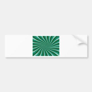 Green Wheel Chakra TEMPLATE add TEXT IMG customize Bumper Sticker