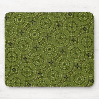 Green Wheel Mandala / Grünes Rad Mandala Mouse Pad