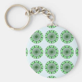 Green : Wheel of Movement to Conservation Basic Round Button Key Ring