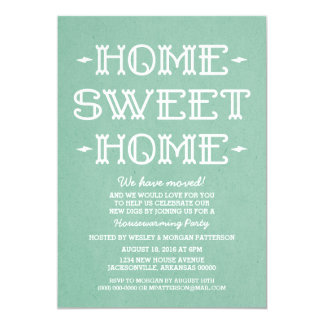 Green Whimsical Sweet Home Housewarming Party 13 Cm X 18 Cm Invitation Card