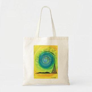 Green Whimsical Tree Tote Bag
