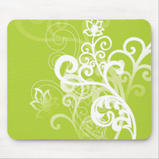 Green Whimsy Mouse Mat