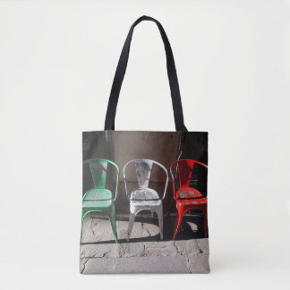 Green, White and Red : Italian Flag of Chairs Tote Bag