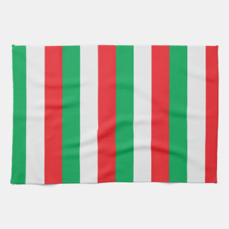 Green, white and red - Italian flag Towel