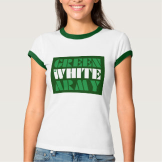 Green & White Army Ringer tee