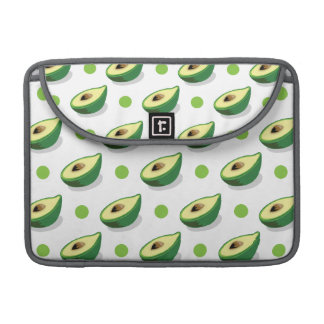 Green & White Avacado, Polka Dot Pattern Sleeve For MacBook Pro