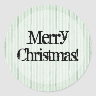 Green & White background Merry Christmas Stickers