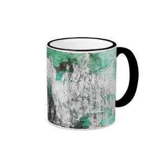 Green, White & Black Abstract Art Mug