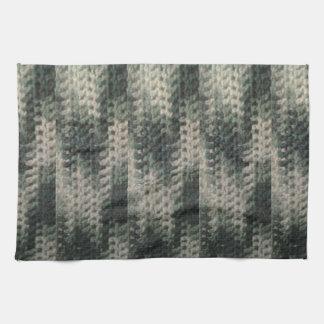 green white chevron zigzag pattern tea towel