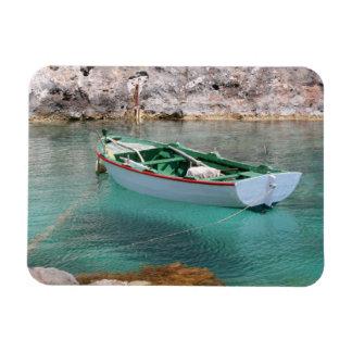 Green & White Fishing Boat Rectangular Photo Magnet