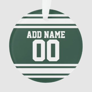 Green White Football Jersey Custom Name Number