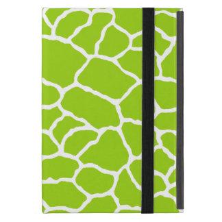Green White Giraffe Print Cover For iPad Mini