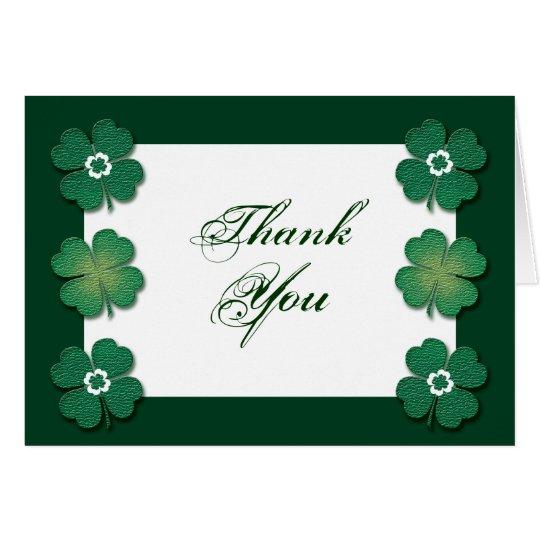 Green white Irish wedding anniversary Card