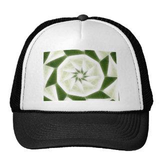 Green White Kaleidoscope Art 9 Trucker Hats