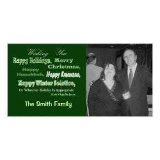 green white multi holiday photo cards