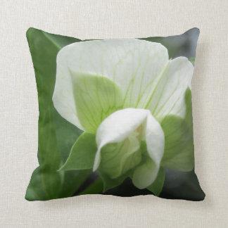 Green & White Pillow ~ original high res photo Throw Cushion
