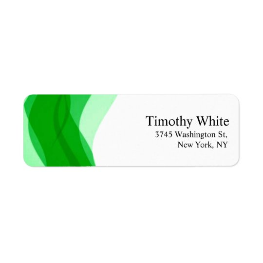 Green & White Plain Elegant Minimalist Modern Return Address Label