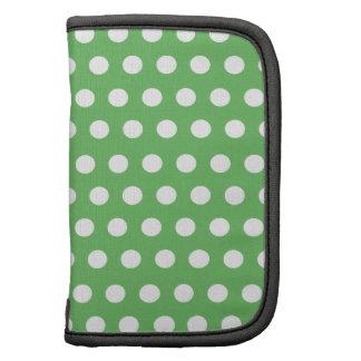Green White Polka Dots Monogram Planner