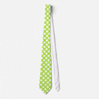 Green White Polka Dots - Necktie
