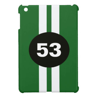 Green White Racing Stripes Ipad Mini Case