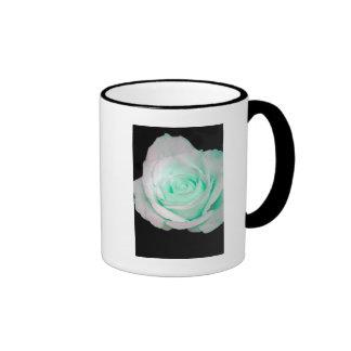 Green & White Rose... Ringer Mug