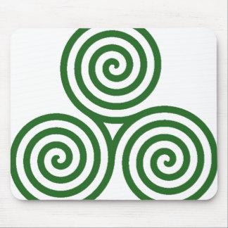 Green White Spirals - Mousepad