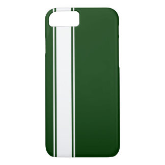 Green & White Team Jersey Stripe iPhone 7 Case