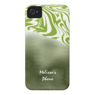Green White Zebra Print Blackberry Phone Case Case-Mate iPhone 4 Case