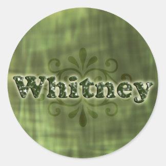 Green Whitney Round Sticker