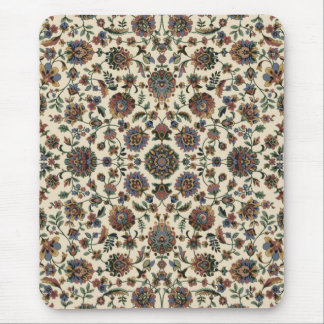 Green Wildflowers Tapestry spiral frame Mouse Mat