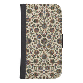 Green Wildflowers Tapestry spiral frame Galaxy S4 Wallet Case