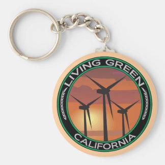 Green Wind California Key Ring