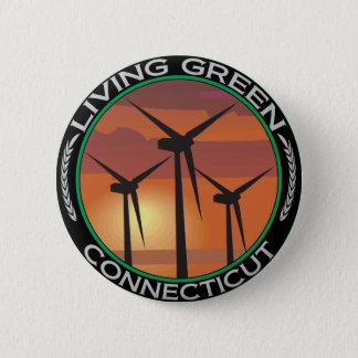 Green Wind Connecticut 6 Cm Round Badge
