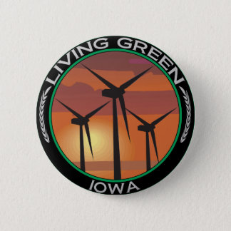 Green Wind Iowa 6 Cm Round Badge