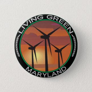 Green Wind Maryland 6 Cm Round Badge