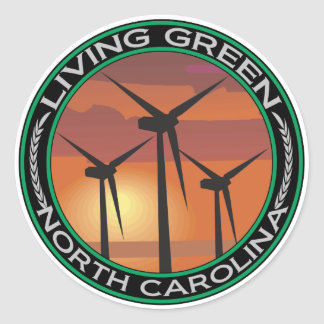 Green Wind North Carolina Classic Round Sticker