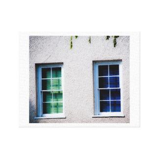 Green Window, Blue Window Gallery Wrap Canvas