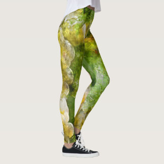 Green Wine Grapes Leggings