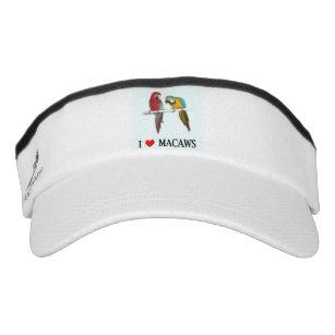 Green Wing and Blue and Gold Macaws Visor d88a0e90bd72