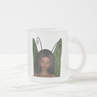 Green Wing Lady Faerie 1 - 3D Fairy - Coffee Mug