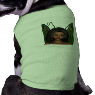 Green Wing Lady Faerie 1 - 3D Fairy - Doggie Tshirt