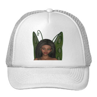 Green Wing Lady Faerie 1 - 3D Fairy - Hats