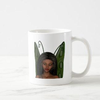 Green Wing Lady Faerie 1 - 3D Fairy - Mug