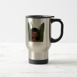 Green Wing Lady Faerie 1 - 3D Fairy - Mugs