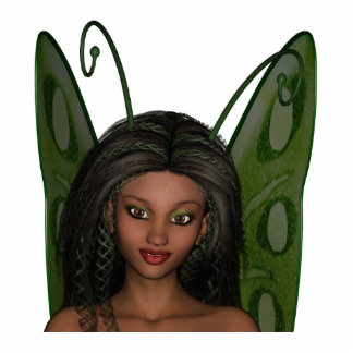 Green Wing Lady Faerie 1 - 3D Fairy - Photo Cut Out