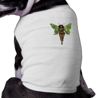 Green Wing Lady Faerie 2 - 3D Fairy - Pet Tee Shirt
