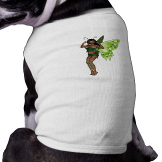 Green Wing Lady Faerie 3 - 3D Fairy - Dog Shirt